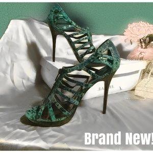 NEW! Jade Green & Leopard Bakers Zip High Heels